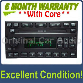1998 - 2005 Ford Explorer Expedition F150  Radio and 6 CD Changer