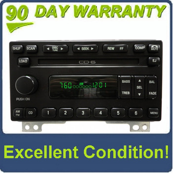01 02 03 04 05 Ford Explorer Mountaineer Mustang Radio and 6 CD Changer 2001 2002 2003 2004 2005