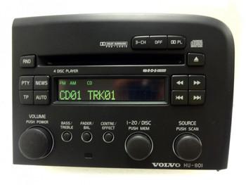 VOLVO S80 Radio Stereo 4 Disc Changer CD Player HU-801 1999 2000 2001 2002 2003 2004