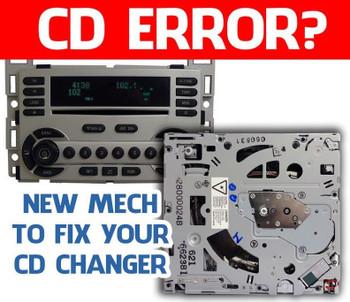 04 05 06 07 08 Chevy MALIBU EQUINOX Pontiac G6 Torrent 6 Disc CD Changer Mechanism Gm273