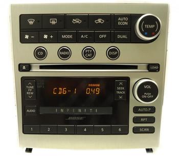 INFINITI G-35 G35 BOSE Radio Stereo 6 Disc Changer MP3 CD Player 2005 2006 2007