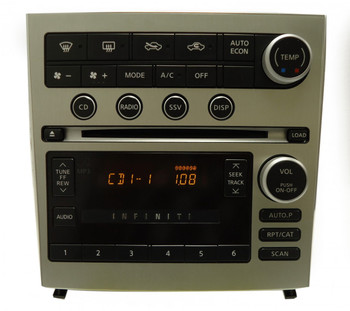 INFINITI G-35 G35 Radio Stereo 6 Disc Changer MP3 CD Player Single Zone Climate 2005 2006 2007