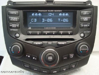 2004 - 2007 Honda Accord Radio and 6 CD