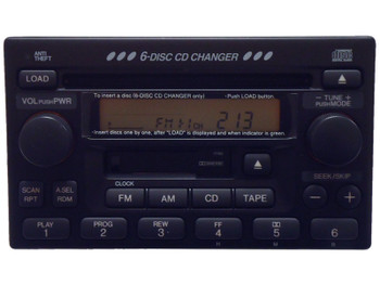 NEW Honda Accord CR-V Prelude Odyssey S2000 Radio, Tape and 6 CD Changer 1999 2000 2001 2002 2003 2004 2005 2006