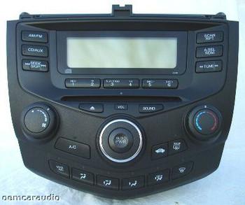 2003 - 2007 Honda Accord Radio and CD Player LX 4DR 2AC0