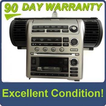 INFINITI G35 G-35 Navigation GPS BOSE Radio Stereo 6 Disch Changer CD Tape Player 2003 2004