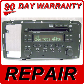 REPAIR SERVICE for VOLVO S60 V70 S80 XC70 Radio HU-850 6 Disc Changer CD Player VoHU-850R