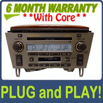 2002 2003 2004 2005 02 03 04 05 Lexus SC430 Radio Tape Cassette Mark Levinson Radio 6 CD Changer P6832