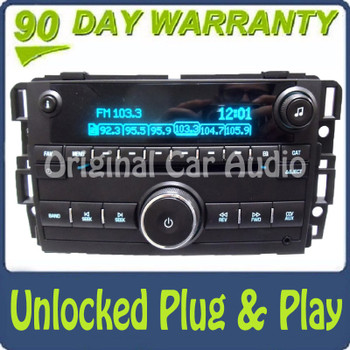 Unlocked 2007 - 2012 CHEVY GMC OEM AM FM Radio MP3 CD Player AUX Stereo Receiver