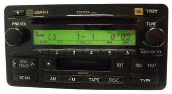 TOYOTA Sequoia Tundra JBL Radio Stereo 6 Disc Changer Cassette Tape CD Player A56835 OEM 2003 2004