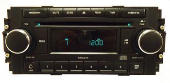 2005 - 2008 Chrysler Jeep Dodge OEM AM FM Radio CD Player Chrome Knobs w/AUX REF