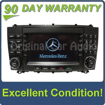 2005 2006 2007 2008 2009 Mercedes-Benz CLK Class OEM Comand Navigation Radio CD Player Display 209 Type