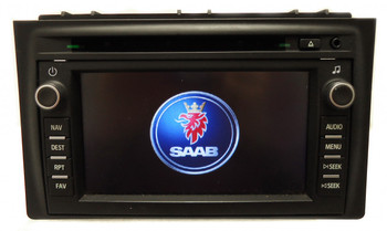 SAAB 9-3 Navigation GPS System Radio CD Player LCD Display Screen Monitor 12777838 12779029 2007 2008 OEM