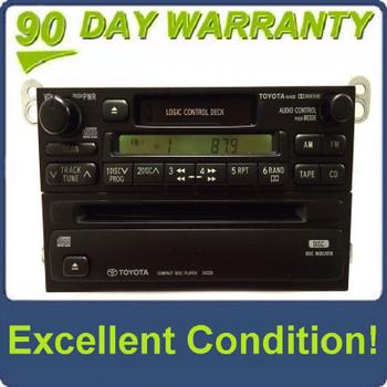 1990 - 1999 TOYOTA 4Runner Avalon Camry Celica Mr2 Seuoia Solara Sienna Tacoma Tundra T100 OEM AM FM Radio Cassette Tape CD Player A56409 16408 34230 T9200