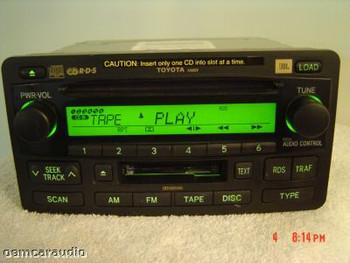 NEW Toyota JBL Sequoia Tundra Radio 6 Disc Changer CD Tape Cassette Player 86120-0C120 2003 2004