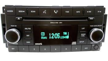2007 - 2013 JEEP CHRYSLER DODGE OEM Sirius Satellite XM AM FM Radio AUX MP3 CD Player Receiver RES