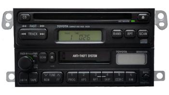 TOYOTA AM FM Radio Cassette Tape CD Player A16409 34224 4Runner Avalon Camry Celica Mr2 Seuoia Solara Sienna Tacoma Tundra T100 1990 1991 1992 1993 1994 1995 1996 1997 1998 1999