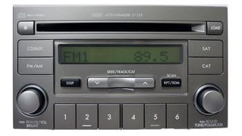 07 08 Subaru FORESTER IMPREZA Radio XM Satellite 6 Disc CD Changer Player MP3 WMA C123 C-123 Stereo 2007 2008 86201-SA350 PF-2851B-A