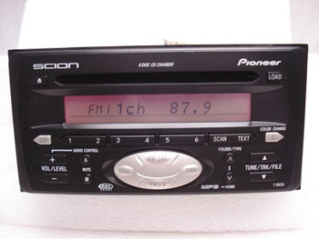 SCION xA xB xD tC Factory (OEM) Radio Satellite and 6 CD Player Disc Stereo Toyota 4runner Celica Echo FJ Cruiser Highlander MR2 Rav4 Yaris T1802 T1805  86120-0W090 or 86120-0W110