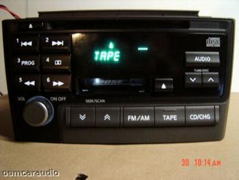 00 01 INFINITI I30 I35 BOSE AM FM Radio Stereo Tape Cassette CD Player OEM 2000 2001 PN 2383D CNB28