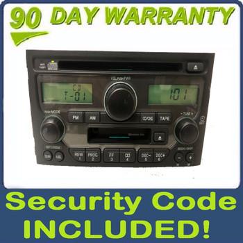 2003 - 2005 HONDA Pilot OEM AM FM Radio Stereo Tape Cassette CD Player Receiver 1SV0, 1SV1, 1TV1
