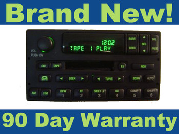 NEW FORD RDS CASSETTE PLAYER TAPE RADIO STEREO Receiver Expedition Ranger OEM 1998 1999 2000 2001 2002 2003 2004 2005 2006 2007 2008 2009