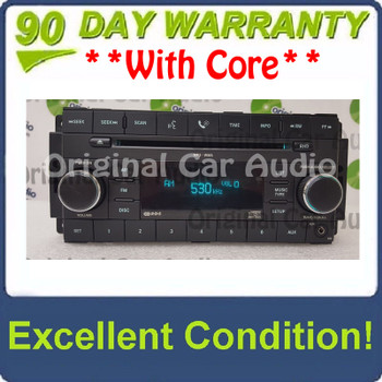 2007 - 2013 DODGE CHRYSLER JEEP OEM AM FM Radio MP3 WMA Single CD Player AUX Auxiliary Receiver RES