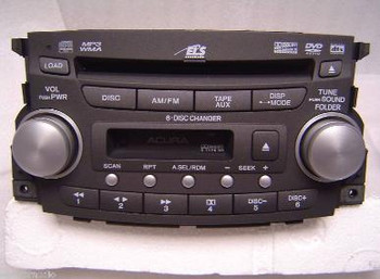 07 08 Acura TL Radio 6 Disc CD Changer DVD Cassette MP3 1SB2 OEM