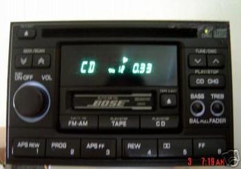 Nissan Maxima Infiniti I30 QX4 G20 BOSE Radio And CD Player 1995-2002