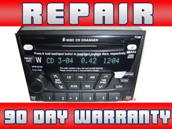 repair only 01 02 03 nissan xterra frontier altima radio 6 cd disc changer  28185 7z500 py218 1999 2000 2001 2002 2003 2004