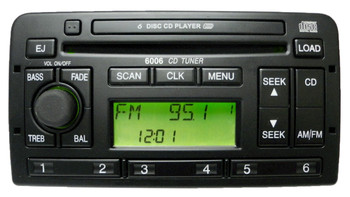 02 03 04 Ford FOCUS Radio 6006 CD Tuner 6 Disc CD Changer Player Stereo 3S4F-18C815-AG Spring Mint NA