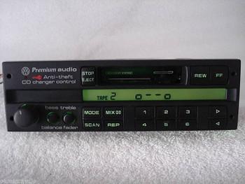 1993 - 1999 Volkswagen VW Cabriolet Corrado Eurovan FOX Golf Jetta Passat Radio Premium Stereo Tape Cassette Player CD Changer Control