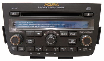 05 06 Acura MDX Radio DVD Player 6 CD Changer Stereo 1XF9