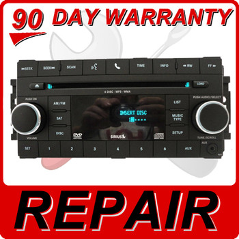 REPAIR Your 2007 - 2012 Chrysler Jeep Dodge OEM Radio AUX SAT MP3 DVD FIX 6 CD Changer Repair Only