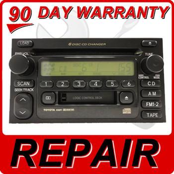 Toyota Repair Service Radio Audio 6 Disc Changer CD Player JBL