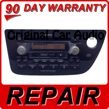 REPAIR ACURA RSX Radio 6 Disc CD Changer Tape Player BOSE OEM 1TJ3 1TJ2 02 04 05 06 1TJ2