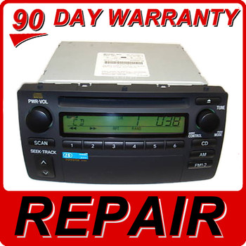Repair Service Toyota Corolla CD Player A51802 A56821 A51813