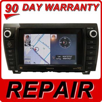 REPAIR SERVICE Toyota OEM Tundra Sequoia Venza Navigation CD Player DVD Drive Repair