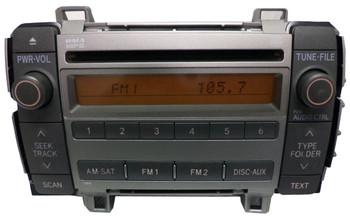2009 2010 TOYOTA Matrix AM FM XM Radio Stereo CD Player 86120-02710 OEM