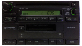 TOYOTA AM FM Radio CD Player 51800 4Runner Avalon Camry Celica Mr2 Seuoia Solara Sienna Tacoma Tundra Rav4 T100 1990 1991 1992 1993 1994 1995 1996 1997 1998 1999 JBL PREMIUM AMPLIFIER W/Cassette Player