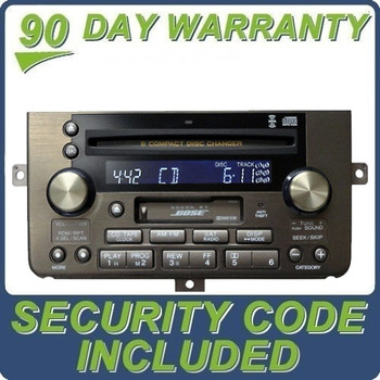 Acura Bose Radio Tape Cassette Deck 6 Disc CD Changer Sat