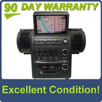 2003 2004 INFINITI G35 G-35 GPS Navigation Radio Stereo 6 Disc Changer CD Tape Player 28188AC360 Black