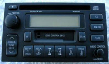 1990 - 2002 Toyota Radio CD  and Cassette Player 16810