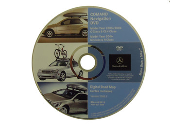 Mercedes-Benz Navigation Map Disc Version 2005.1 S0014-0075-506