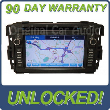Unlocked 2007 2008 2009 Chevy GMC OEM Navigation Radio CD player Display Touch Screen Receiver 15940103, 15882767