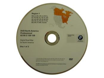 BMW Navigation Map Disc Version 2010 Region 1 65 90 2 158 158