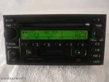 2000 2001 2002 2003 Toyota Celica Highlander OEM JBL RDS  Radio Tape Cassette 6 CD  56816