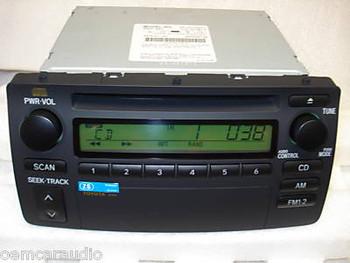 Toyota Corolla Radio and CD Player 86120-02270 2003 2004 2005