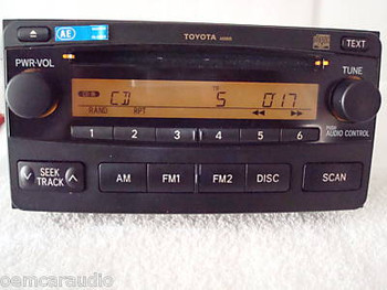 2003 - 2005 Toyota Radio and CD  Player