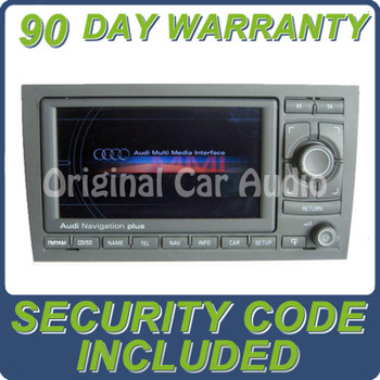2005 - 2009 AUDI A4 S4 OEM AM FM Radio GPS Navigation Display Screen RNS-E